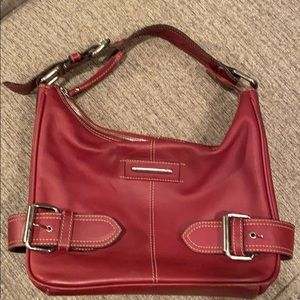 ❤️2/$20 100% Leather Franco Sarto Red Handbag
